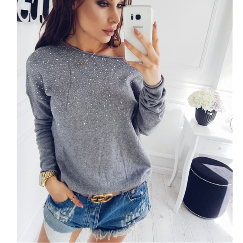 Sinfeel Fashion Sexy Off Shoulder Sweaters Women Autumn Winter Knitted Jumper Sueter Mujer Side Slit Lady's Sweater Pull Clothes