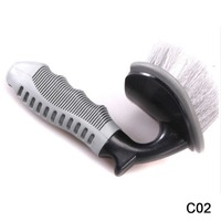 Premium Non Slip ABS Handle L Shape Curved Tire Brush Car Motorcycle Bike Truck Tyre Scooter