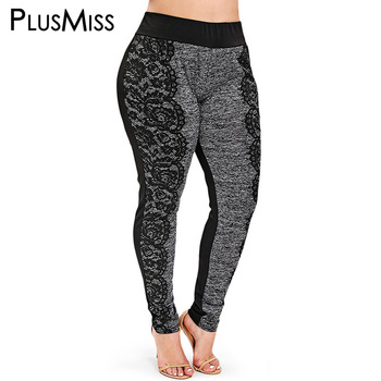 PlusMiss Plus Size 5XL Lace Crochet Leggings Women Clothes Big Size Fitness Jeggings Skinny Leggins Boho Legins XXXXL XXXL XXL