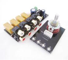 Ses giriş sinyali seçici röle kartı/sinyal anahtarlama amplifikatör kurulu + RCA