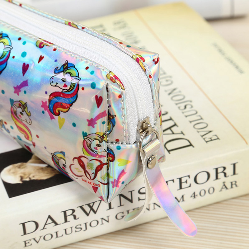 776ed95ff9 US $1.96 15% OFF|Aliexpress.com : Buy Unicorn Party Favors Mermaid Pencil  Case Back to School Glitter Coin Purse Laser Handbag For Girls Birthday ...