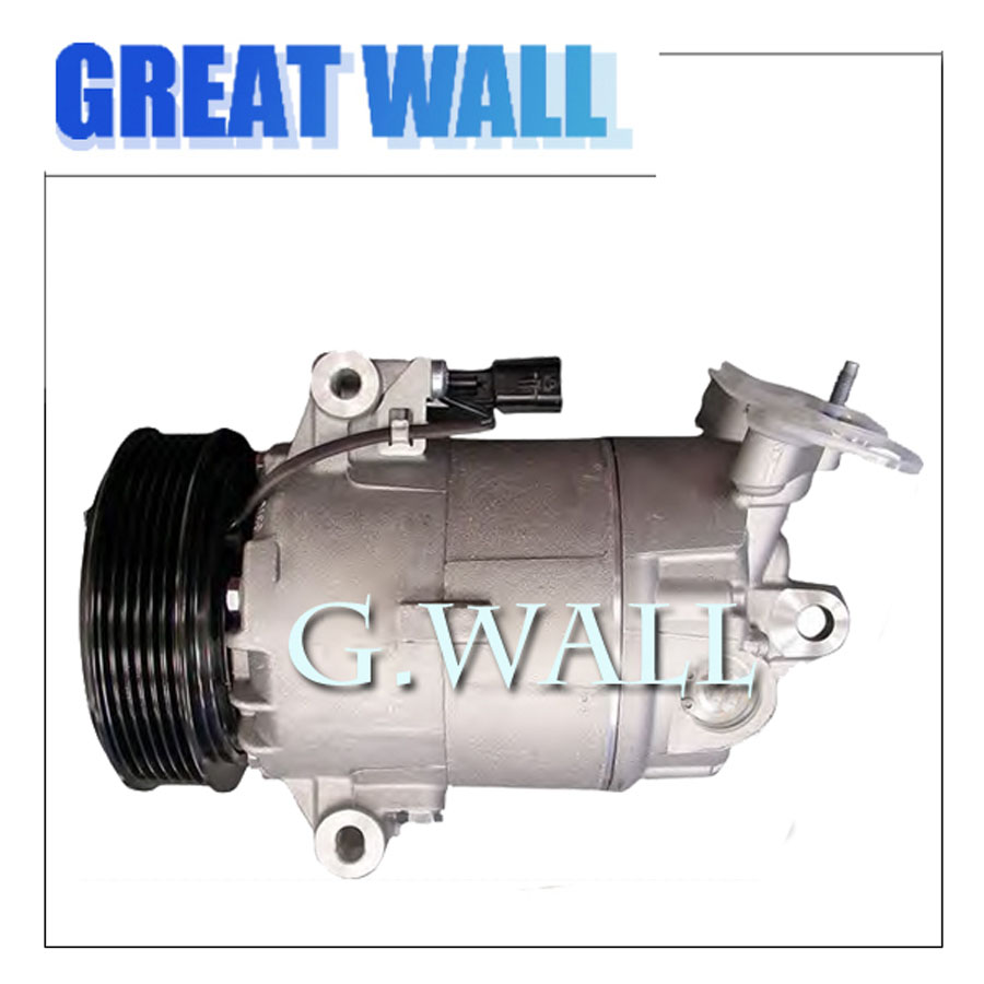CVC Air Conditioning Compressor For Car Qashqai 2.0L / Dualis 2.0L 2007-2012 110MM PV6 A/C 926001DB0A 92600JD200 ...