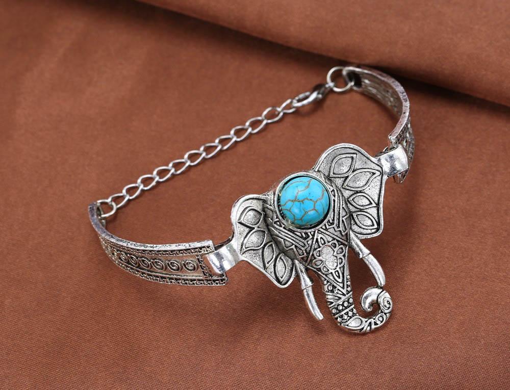 Heißer Verkauf Elefant Armband für Frauen Vintage Armbänder & - Modeschmuck - Foto 2