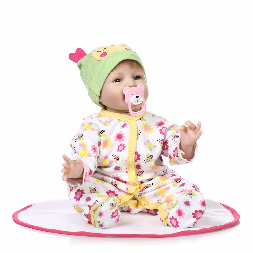 22 inch 55cm Bebe Gift Doll Reborn Real Soft Silicone Reborn Dolls Girls Kids Play House Toys Reborn Realista Brinquedos Bonecas