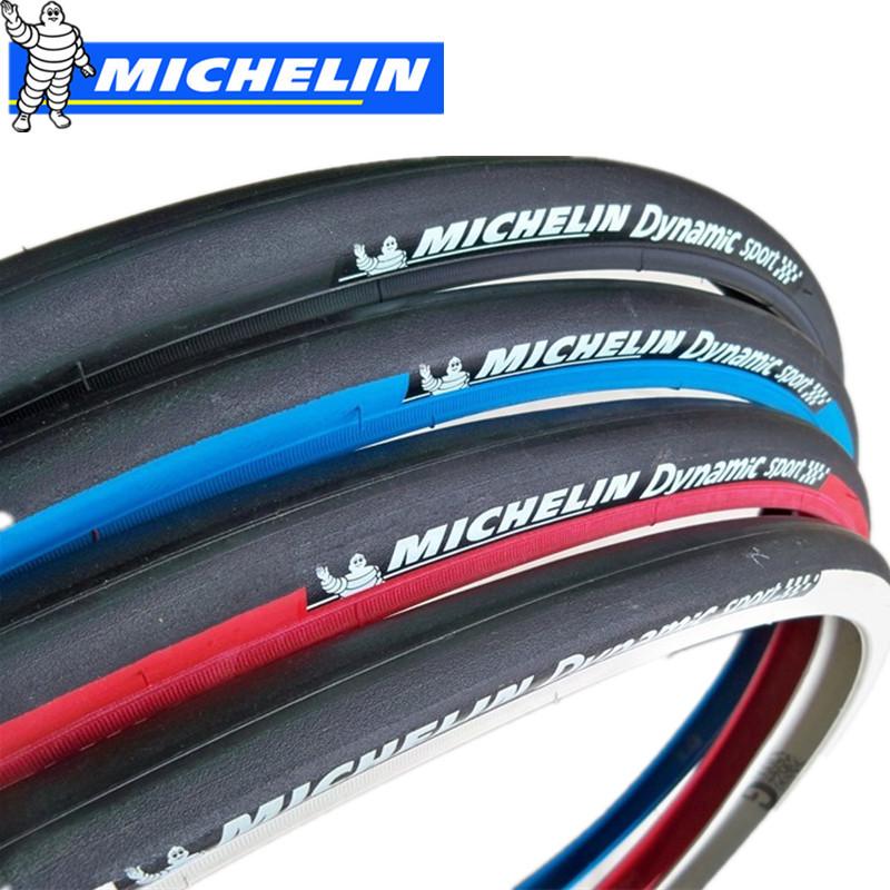 Prix pour Michelin Dynamique Vélo De Route Pneus multicolore ultra-léger nappes 700 * 23C Bleu Rouge Noir Vélo de pneu de bicyclette 700C prix accessoires
