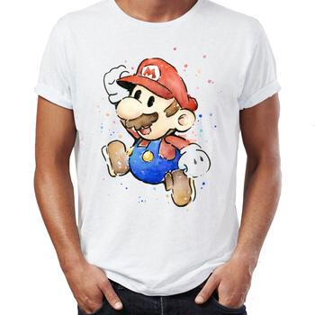 T-shirt Aquarelle Mario Yoshi Shy Guy capitaine Toad Hommes