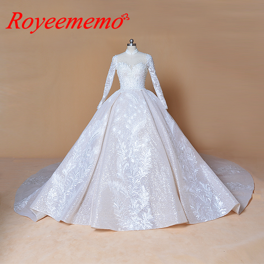 Royal Wedding Ball Gown: 2019 Bling Bling Shinny Ball Gown Wedding Dress Royal