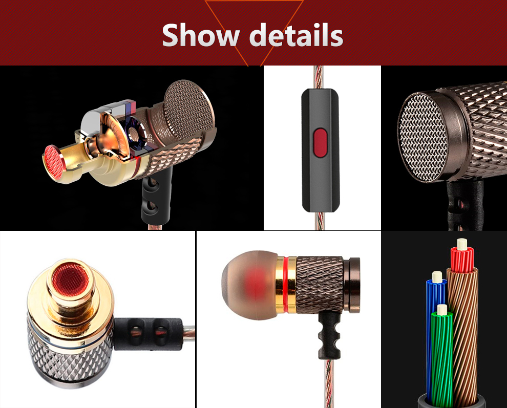 KZ-ED2 Professional In-Ear Earphone Metal Heavy Bass Sound Quality Music Earphone China's High-End Brand Headset fone de ouvido 6