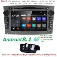 Android 8.1 Autoradio 2 Din Car DVD GPS Navigation for Opel Astra H G J Antara vectra c b Vivaro astra H corsa c d zafira b Wifi