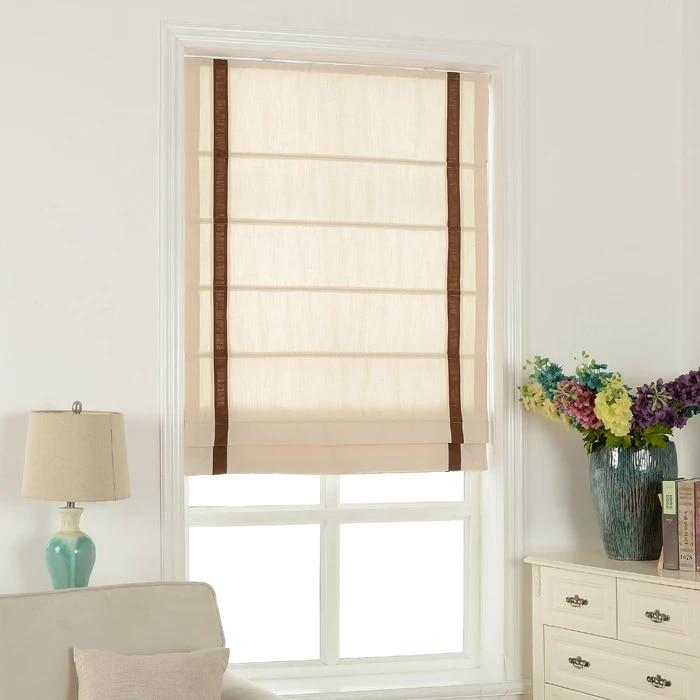 rideaux romains en coton et lin personnalises rideau de porte de salle de bain pour enfants pour baie vitree ombre d automne