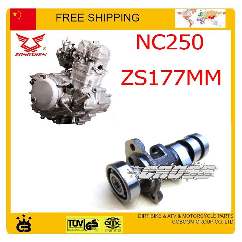 ZONGSHEN NC250 250CC cam shaft camshaft main gear xmotos kayo bse dirt pit bike accessories free shipping все цены