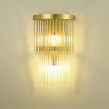 BOKT Indoor Living Room Crystal Wall Lamp Golden Luxury Bedside Lamp Led Post Modern Classic Hotel Aisle Corridor Light t luxury crystal modern wall lamps aisle porch indoor light with e14 led bulbs for corridor free shipping