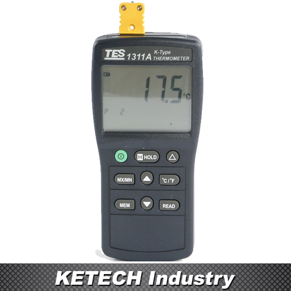 TES1311A Dgital Industrial Thermometer K Type Thermocouple tes 1326s industrial infrared thermometer 35 500c