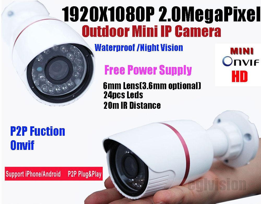 ФОТО Free shipping 2016 NEW IP camera CCTV 2.0MP HD 1080P IP Network Security CCTV Waterproof IR Camera IP66 Onvif support POE