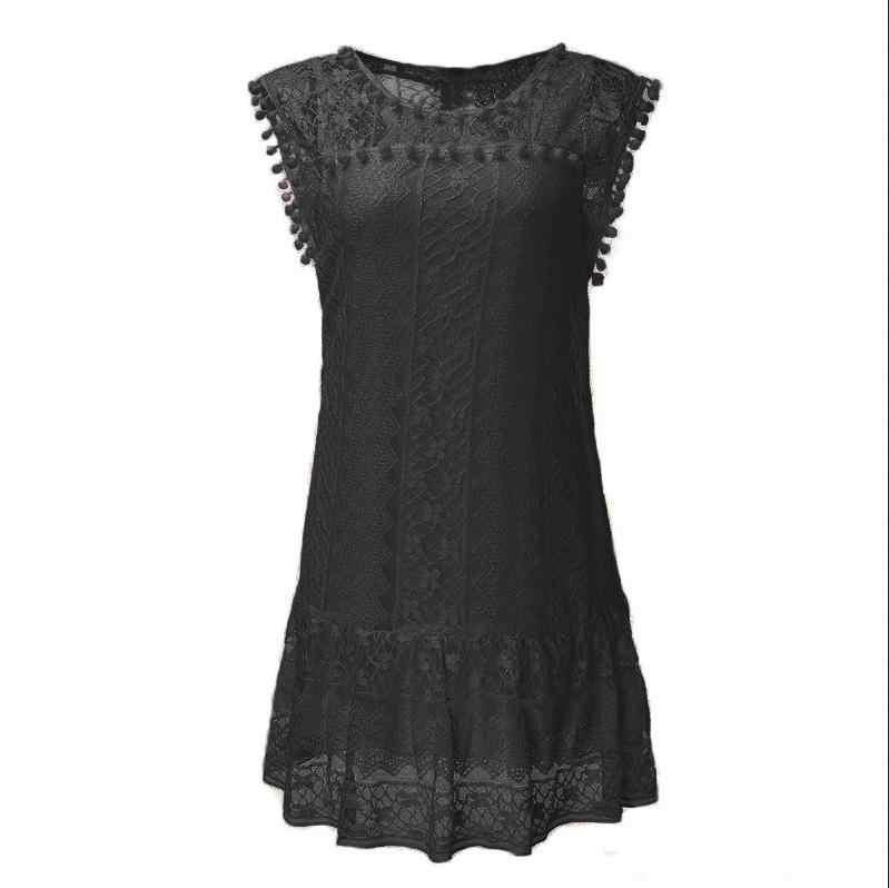 לבן נשים קיץ שמלת Boho קצר שמלת ערב מסיבת חוף שמלות קיצית פיות שמלה עם תחרה vestidos דה verano
