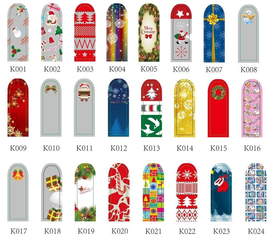 Xmas Nail Transfers: Wolesale New Christmas Nail Sticker Xmas Nail Decals Nail