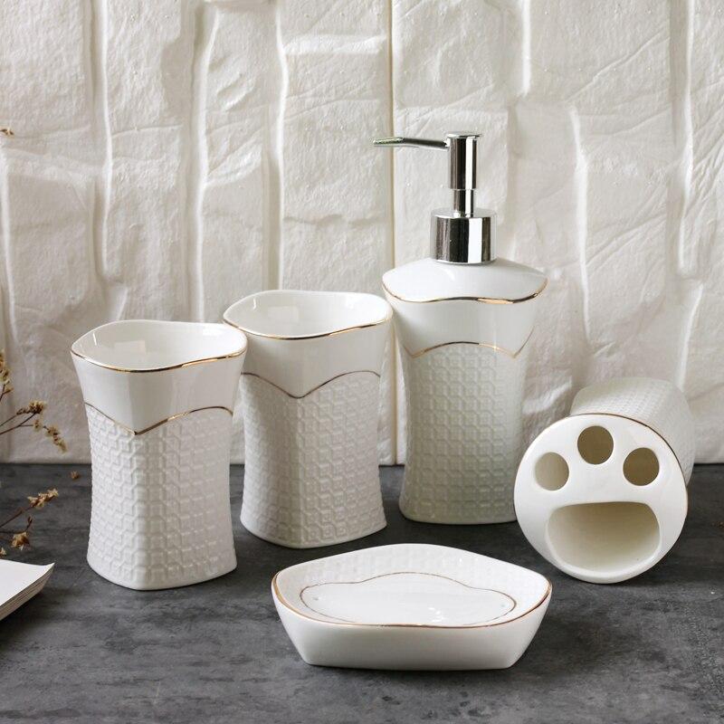 Купить набор для ванной комнаты керамической держатель зубной щетки