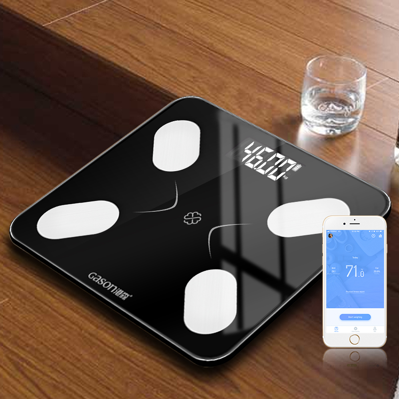Image 3 - GASON S3 Body Fat Scale Floor Scientific Smart Electronic LCD Digital Weight Bathroom Balance Bluetooth APP Android or IOS-in Bathroom Scales from Home & Garden