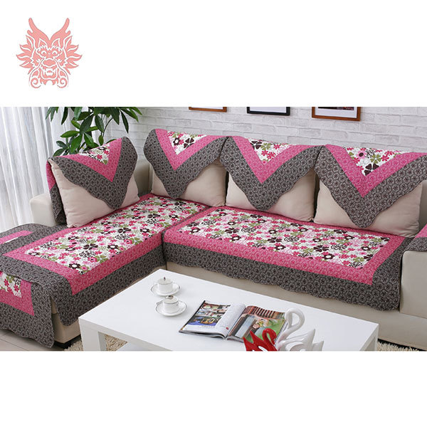 European Style Red Fl Print Sofa Cover 100 Cotton Cloth Quilting Slipcovers Winter Canape 90 210cm For Fashion Sp1743 In From Home