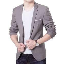 Очаровательные для мужчин's повседневное Slim Fit одна кнопка костюм Блейзер Мода Новый стильный Формальное Пальто Куртка Топы корректирующие