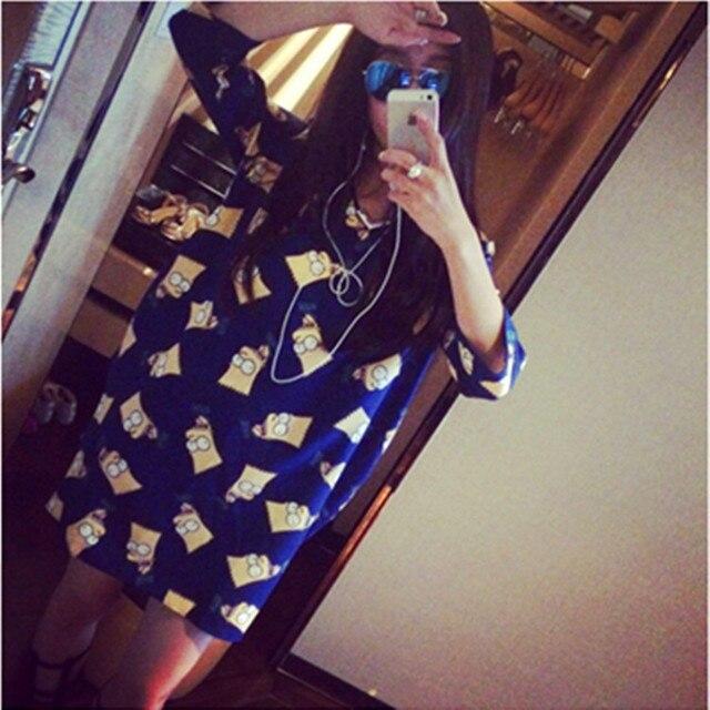 Pregnant women summer fashion chiffon big yards Maternity pregnant women chiffon dress cartoon pregnancy clothes dresses