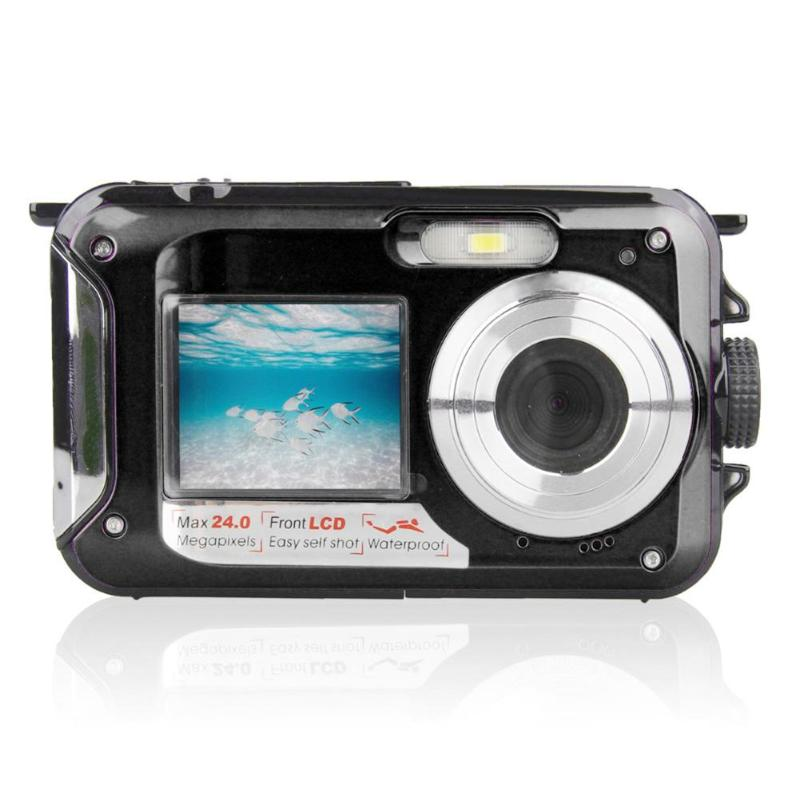 Enfants jeu étanche 24MP Double écran caméra sous-marine enfants CMOS capteur Mini caméra jouets avec accessoires Photo carte TF 32 GB - 4