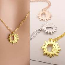 Sun and Moon Necklaces For Women Dainty Jewelry Stainless St