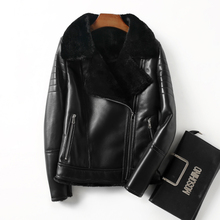 Real Fur Coat Genuine Leather Jacket Women Clothes 2018 Sheepskin Winter Jacket Women Korean Wool Jacket Sheep Shearling ZT545