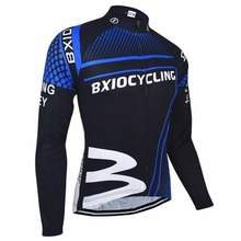 Bxio Winter Thermal Fleece Cycling Jersey Shirt  Bike Jersey Pro Bike Team Warm Long Sleeves Autumn Bicycle Clothing 010-J