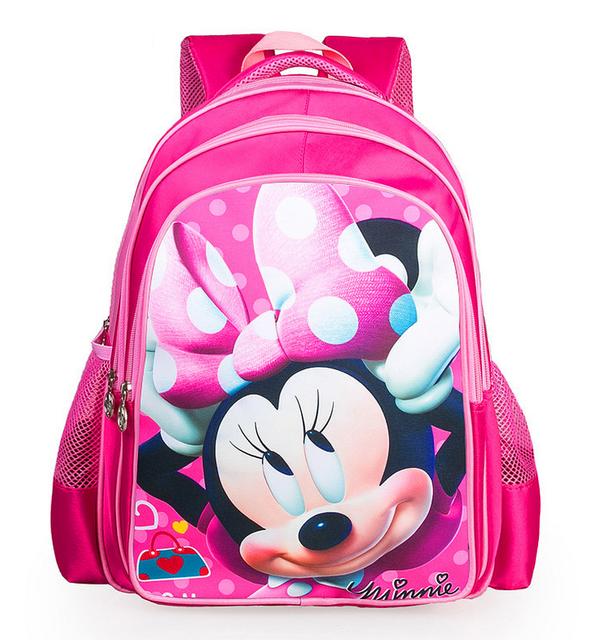 16 pulgadas de los niños mochilas Cartoon Girls Minnie mochilas niños de la escuela primaria bolsas Mochila Infantil