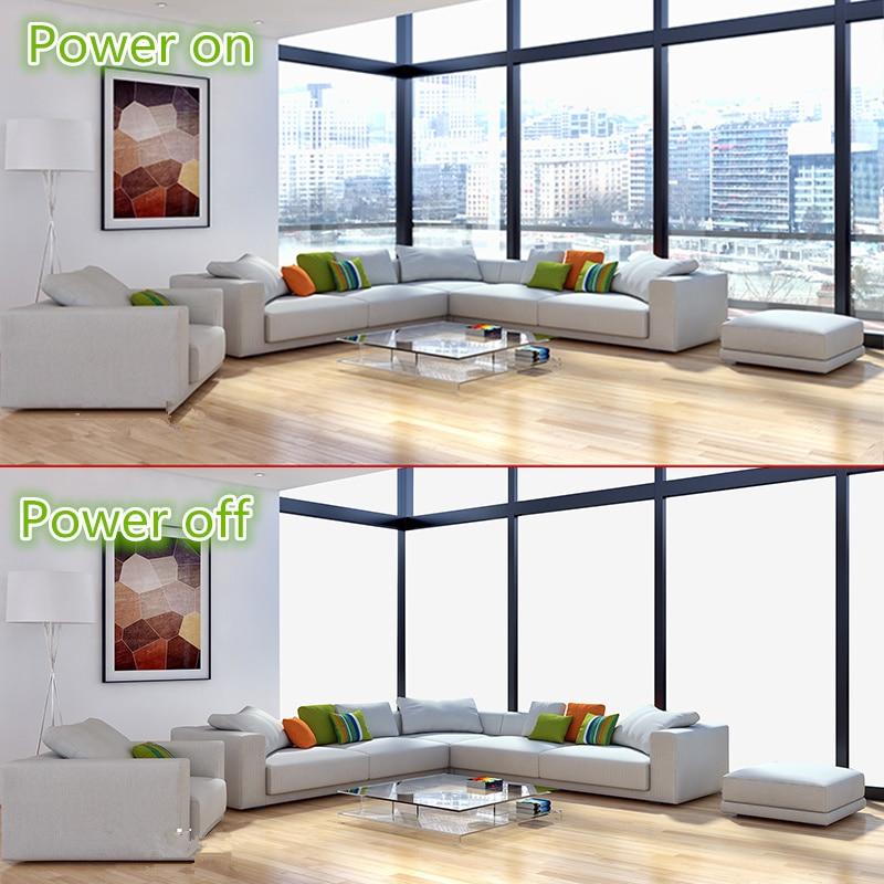 810mm x 1080mm Smart Film PDLC Film Auto-adhésif Film Commutable Puissance sur Et off Vie Privée Personnaliser