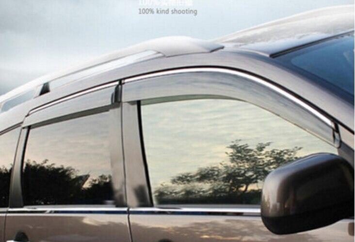 RKAC CUSTOM FIT 4pcs Door Window Sun Visor Deflectors Rain Shield Sun Guard  For Mitsubishi Outlander 2013 2014 2015 2016 1ecf6d3af22