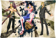 Anime One piece Pillow Case 35×45 cm Gift