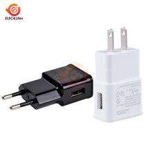 Универсальное настенное зарядное устройство переменного тока, 5 В, 2 А, USB, зарядное устройство для мобильного телефона, адаптер, штепсельная вилка европейского стандарта США для iPhone, samsung, Xiaomi, huawei, iPad
