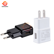 цена на Universal AC Power Wall Charger 5V 2A USB Travel Mobile Phone Charger Adapter EU US Plug For iPhone Samsung Xiaomi Huawei iPad