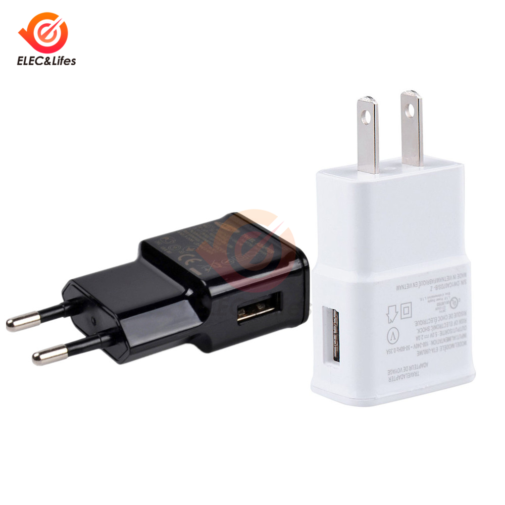 Universal AC Power Wall Charger <font><b>5V</b></font> 2A <font><b>USB</b></font> Travel Mobile Phone Charger Adapter EU US Plug For iPhone Samsung Xiaomi Huawei iPad image