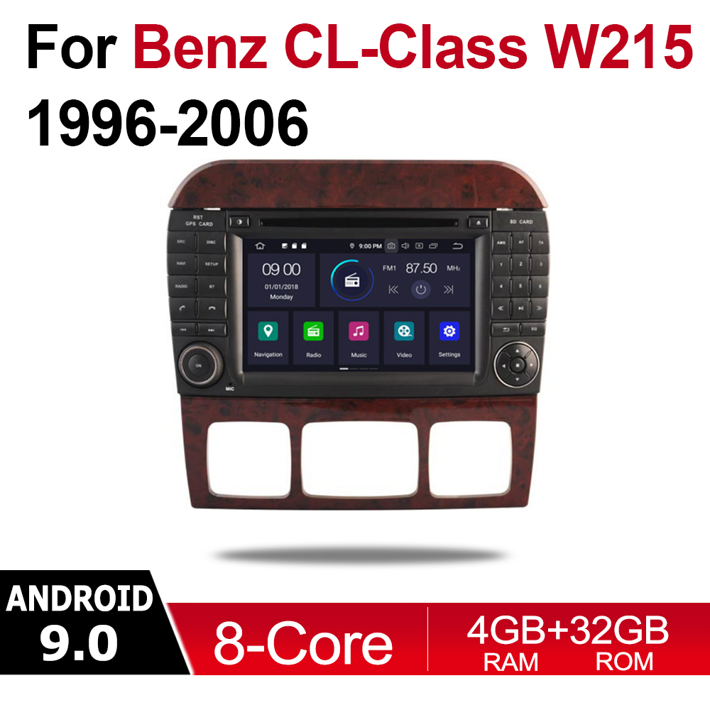 Android Car Multimedia player WIFI GPS Navigation Autoradio For <font><b>Mercedes</b></font> Benz CL Class W215 <font><b>1996</b></font> NTG touch screen WIFI image