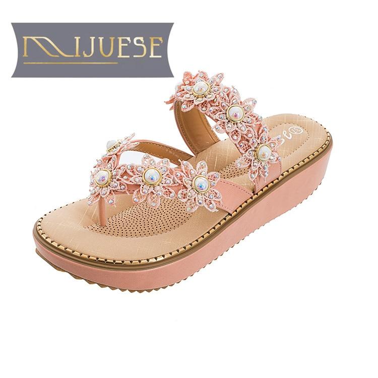 MLJUESE 2018 النساء النعال الصيف BOXIMIYA نمط - أحذية المرأة