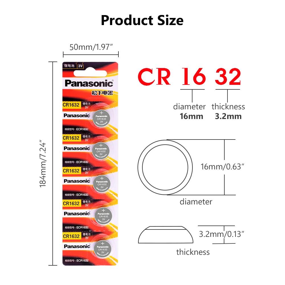 PANASONIC 3 V pile bouton pile bouton CR1632 DL1632 ECR1632 LM1632 KL1632 100 pièces pour tableau principal télécommande jouet - 2