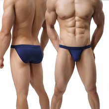 Sexy Solid Male Underwear Modal 3XL Large Size Gay Man Briefs Soft Low