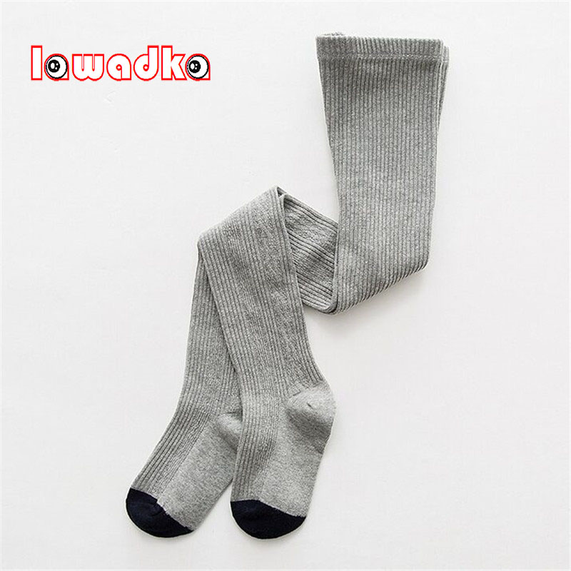 Lawadka Patchwork Girls Tights Cotton Kids Tights For Girls Baby Elastic Waist Knitted Stitching Pantyhose Stocking lawadka 100 page 2