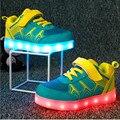 2016 Sapatas Da Forma das Crianças Colorido De Carregamento USB Luzes LED Luminoso Sapatos Para Meninos E Meninas Crianças Sapatos Casuais Luminosas