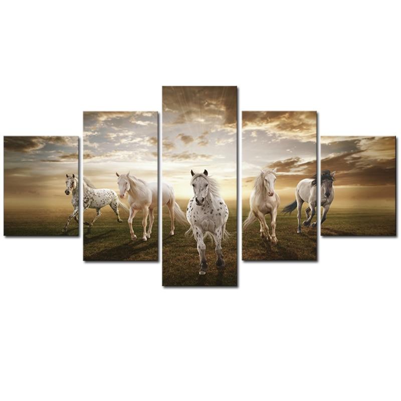 2017 Impregnat pe pânză neîncadrat 5 buc Imagini de artă ieftine - Decoratiune interioara
