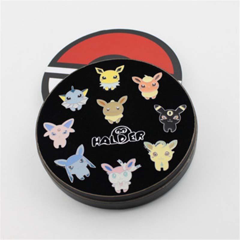 Pokemon Alloy Badges Anime Peripheral Pokemon Brooch League Region Orange Islands Pins Brooches New In Box Set Gift