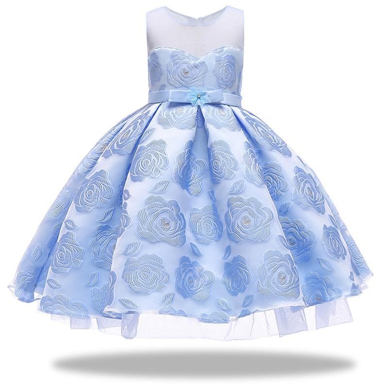 Flower     girl     dress   for   Girls   tutu Kids Clothing Elegent hand Organza   Girls     Dresses   for Children Princess Party Custumes 2-10 Year