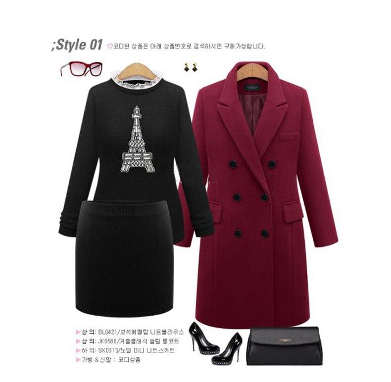 2016 European Women Autumn Winter Coat High Quality Woolen Coat Solid Color Elegant Casual Wool Big Yards Coat Plus Size 5XL (15)