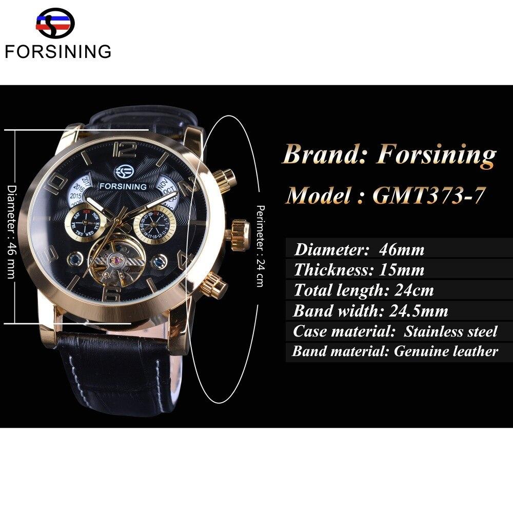 Forsining Golden Bezel Tourbillion Ανδρικά ρολόι - Ανδρικά ρολόγια - Φωτογραφία 3