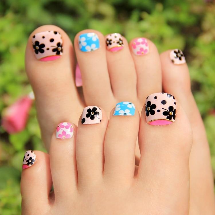 Attractive False Toe Nail Art Sticker Decorationfake Nail Foil Art