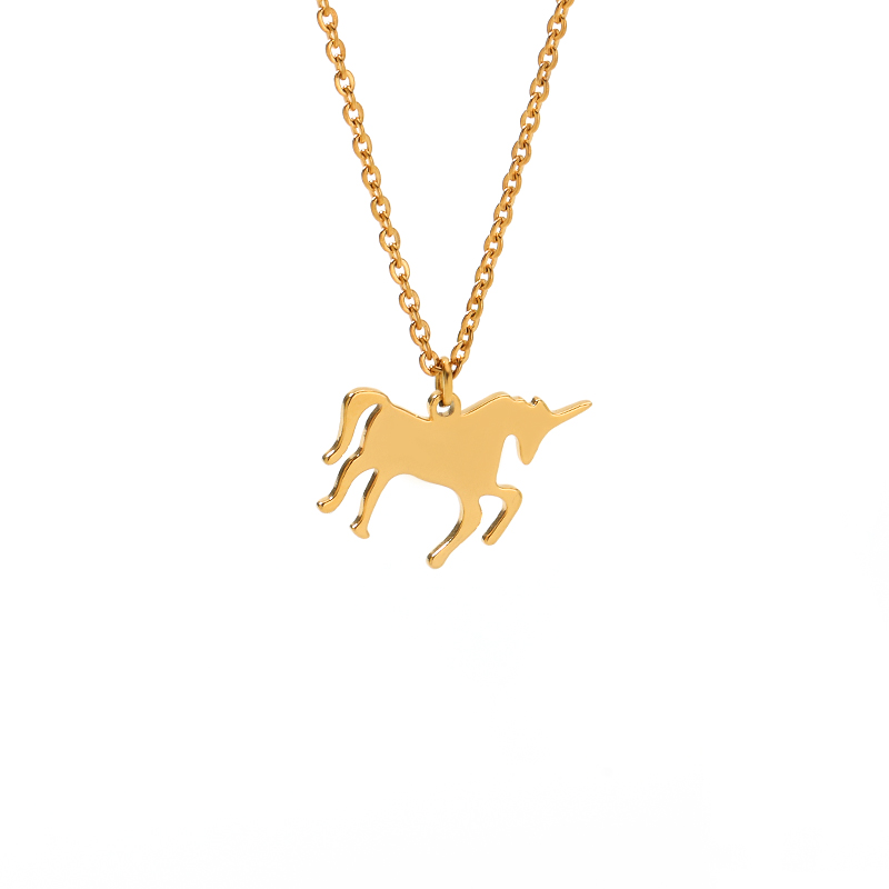Vintage Silver Horse Pendants Necklace for Women New Horses Animal Wedding Gold Chain Necklaces Jewelry