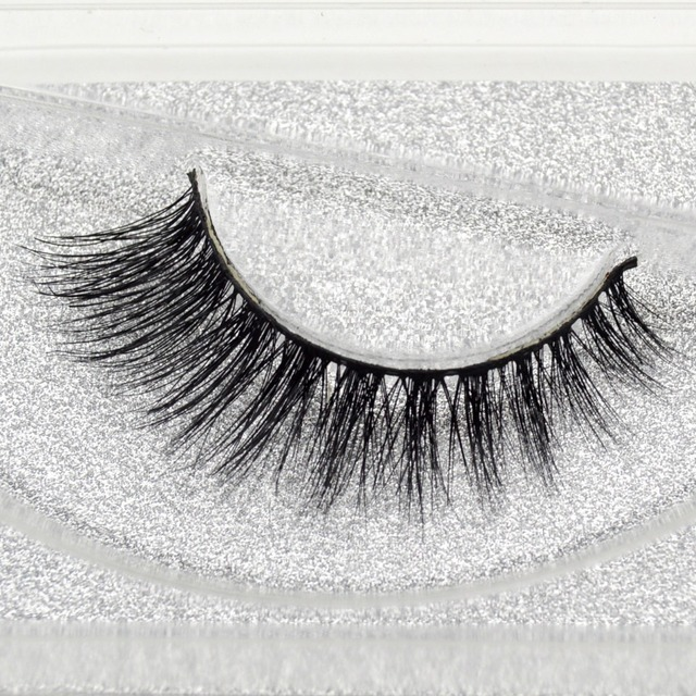 a562e470572 visofree 3D Mink Lashes Natural False Eyelashes Makeup Lashes Eyelash Make  Up Silver Glitter Packaging 1Pair